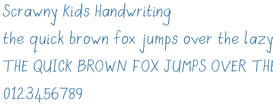 kids writing font Imagine using a handwriting font instead of web-safe fonts like arial, times new roman for your blog create text-based logos and images with handwriting fonts.