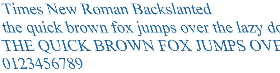 Times New Roman Backslanted Font Free Fonts Download