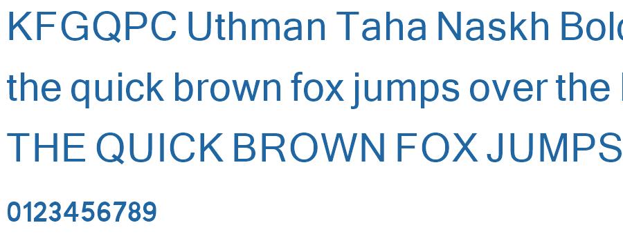 KFGQPC Uthman Taha Naskh Bold Font - Free Fonts Download