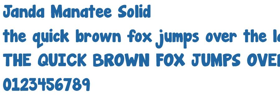 Janda Manatee Solid Font Free Fonts Download Fonts2k Com