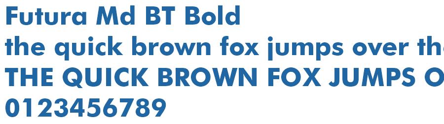Futura Md BT Bold Font - Free Fonts Download - Fonts2k com