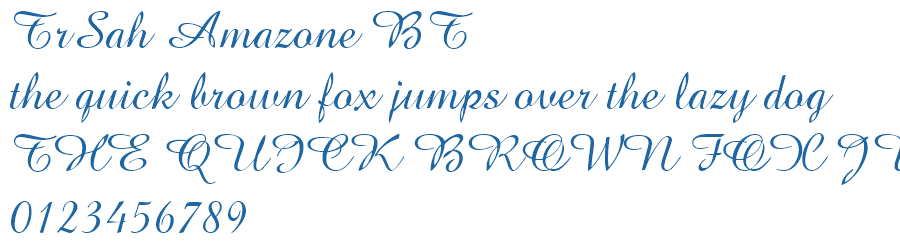 amazone bt regular font free download
